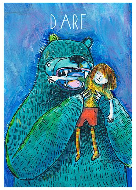 dare bear illustration