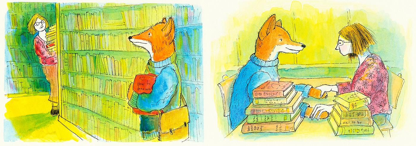 yermit Illustration fox boy meets her
