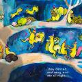 Yermit Children's Illustration of Squirrels in tree partying